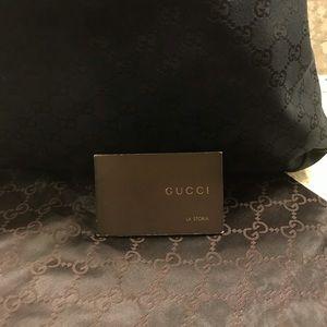 Large Black Canvas Gucci Purse